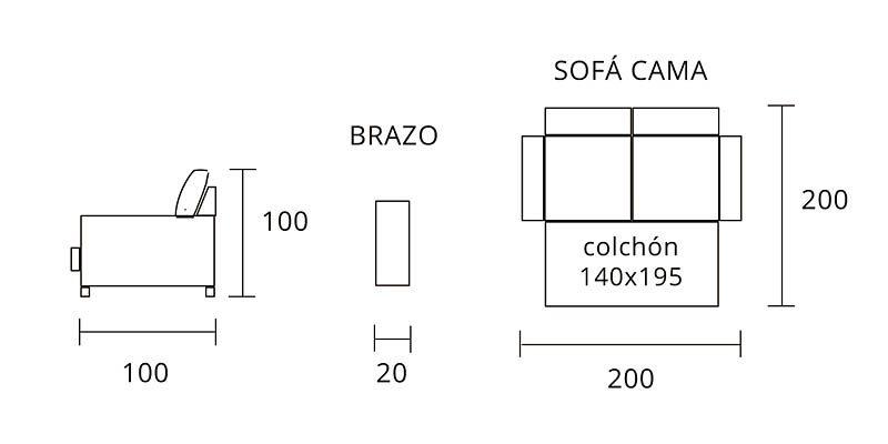 Sofa Modelo Alfil Cama Sofa Alicante